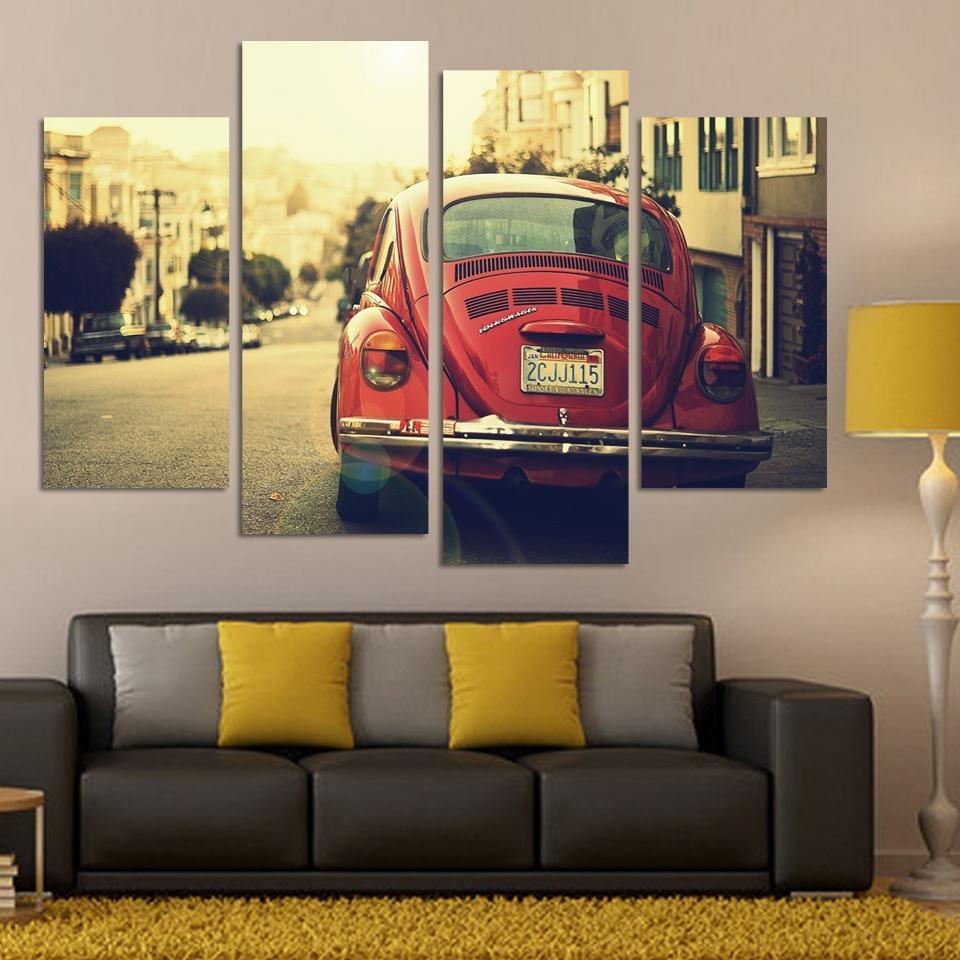 Online Get Cheap Classic Car Art Aliexpress | Alibaba Group Inside Classic Car Wall Art (View 8 of 20)
