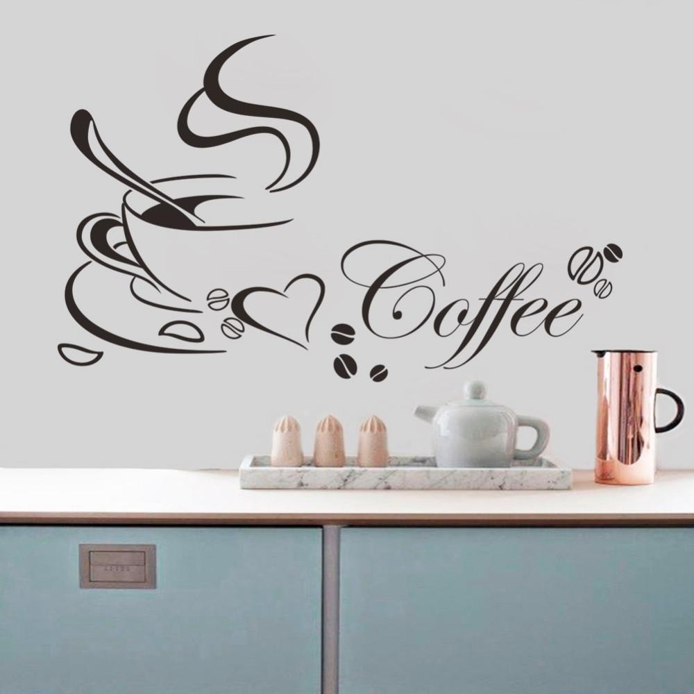 Online Get Cheap Coffee Kitchen Decor  Aliexpress   Alibaba Group Throughout Cafe Latte Kitchen Wall Art (Image 19 of 20)