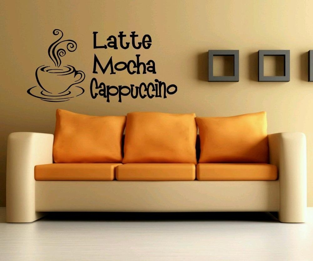 Online Get Cheap Coffee Latte Wall Decoration  Aliexpress Intended For Cafe Latte Kitchen Wall Art (Image 20 of 20)