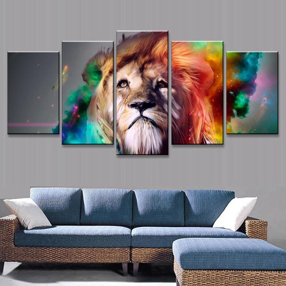 Online Get Cheap Colorful Lion Art Aliexpress | Alibaba Group Regarding Lion Wall Art (View 19 of 20)