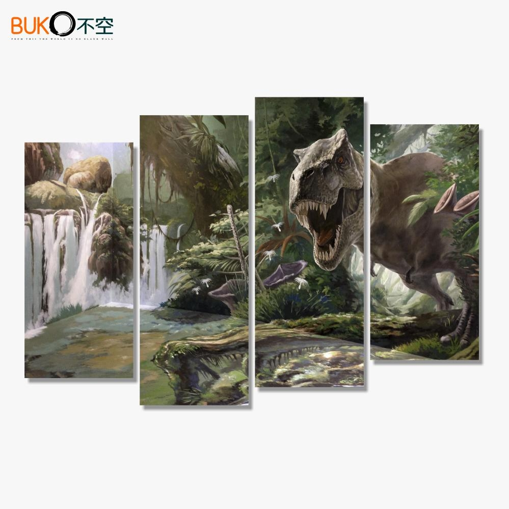 Online Get Cheap Dinosaur Canvas Art  Aliexpress | Alibaba Group With Regard To Dinosaur Canvas Wall Art (Image 15 of 20)