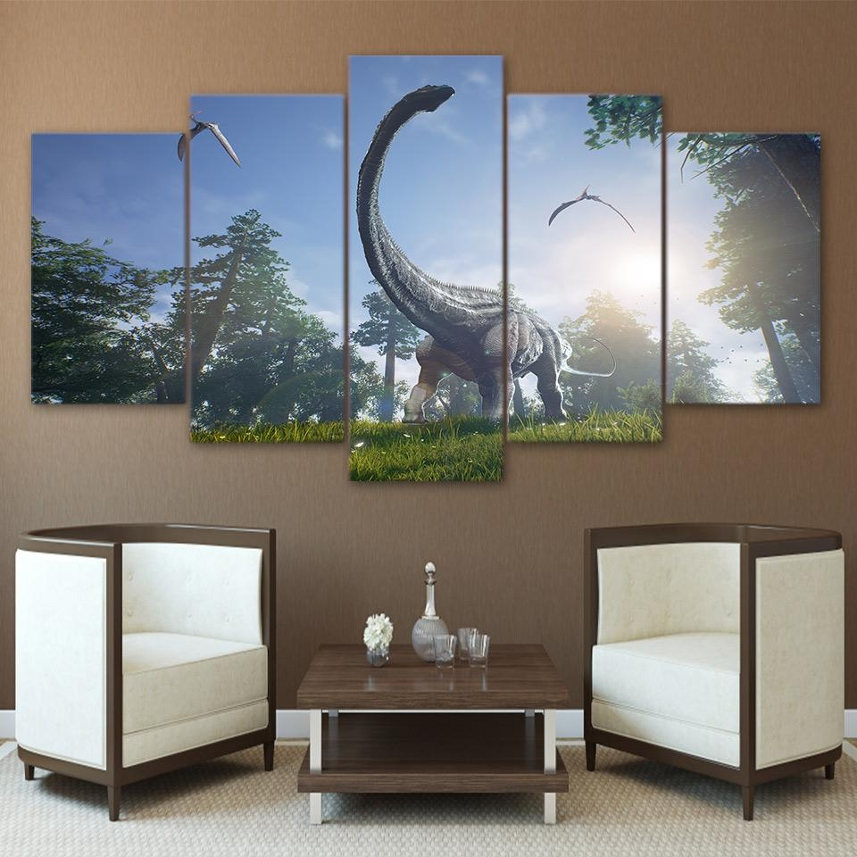 Online Get Cheap Dinosaur Canvas Wall Art  Aliexpress For Dinosaur Canvas Wall Art (Image 16 of 20)