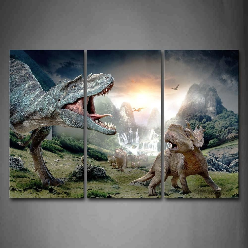 Online Get Cheap Dinosaur Canvas Wall Art  Aliexpress Inside Dinosaur Canvas Wall Art (Image 17 of 20)