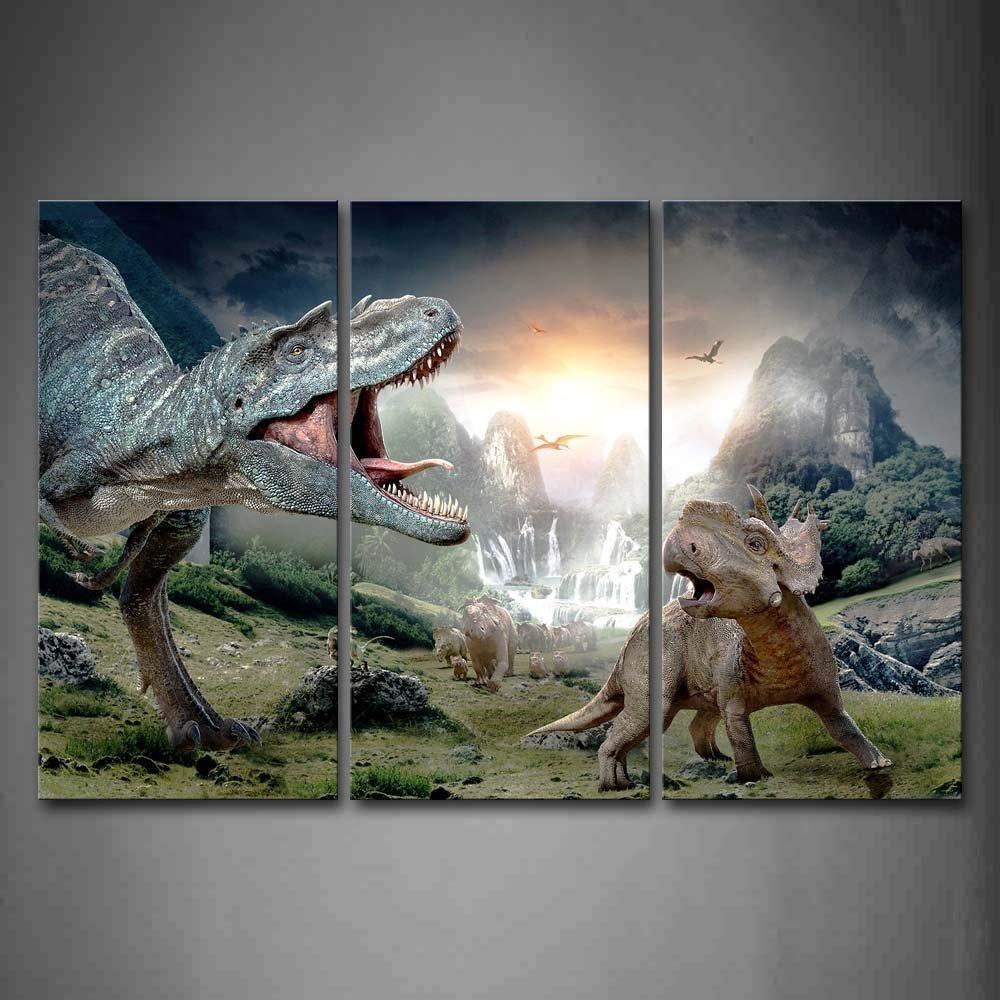 Online Get Cheap Dinosaur Canvas Wall Art Aliexpress Inside Dinosaur Canvas Wall Art (View 3 of 20)
