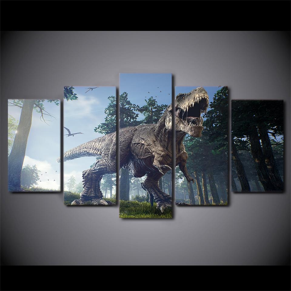 Online Get Cheap Dinosaur Picture  Aliexpress | Alibaba Group With Dinosaur Canvas Wall Art (Image 18 of 20)