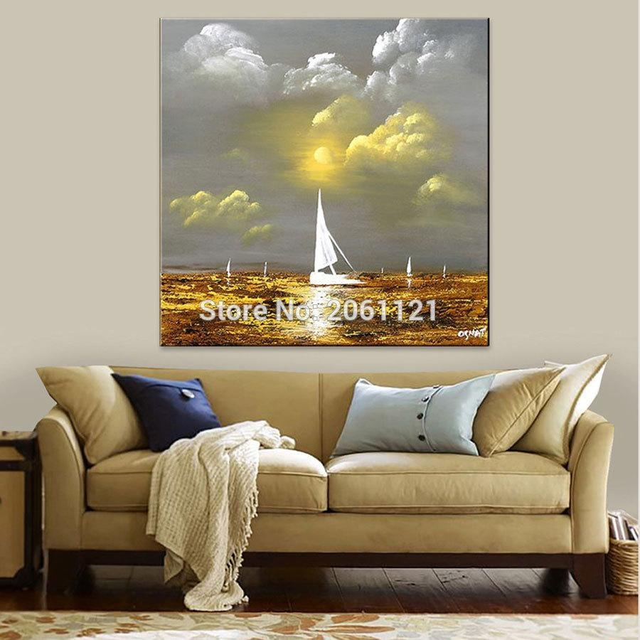 Online Get Cheap Gold Silver Abstract Canvas Aliexpress With Regard To Silver And Gold Wall Art (View 15 of 20)