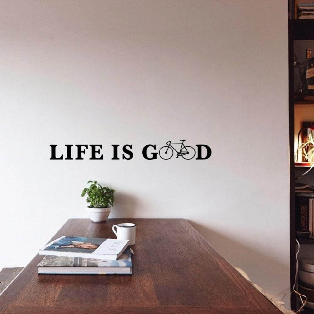 Online Get Cheap Good Cartoon Quotes Aliexpress | Alibaba Group With Regard To Life Is Good Wall Art (View 14 of 20)