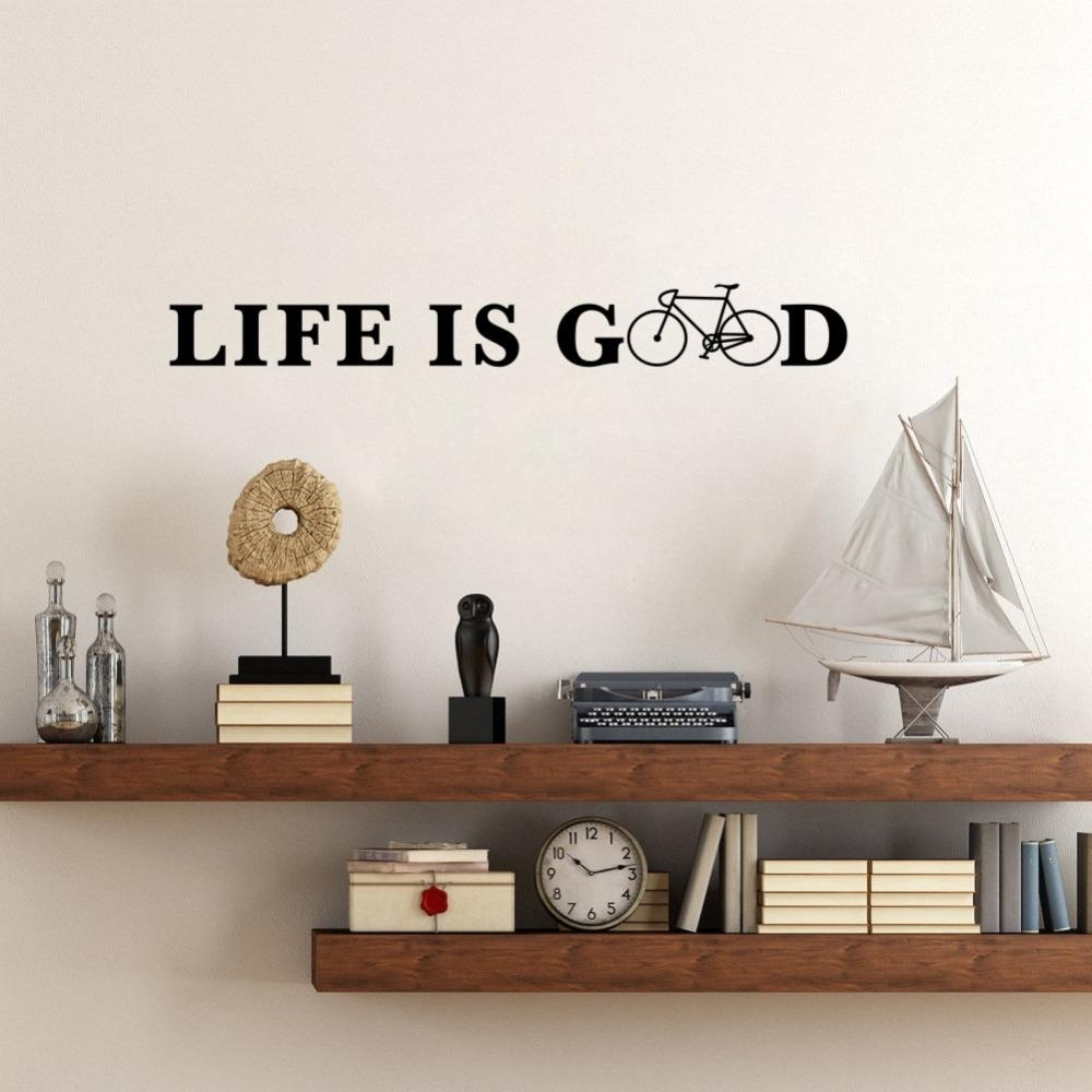 Online Get Cheap Good Quotes Life  Aliexpress | Alibaba Group With Regard To Life Is Good Wall Art (Image 14 of 20)