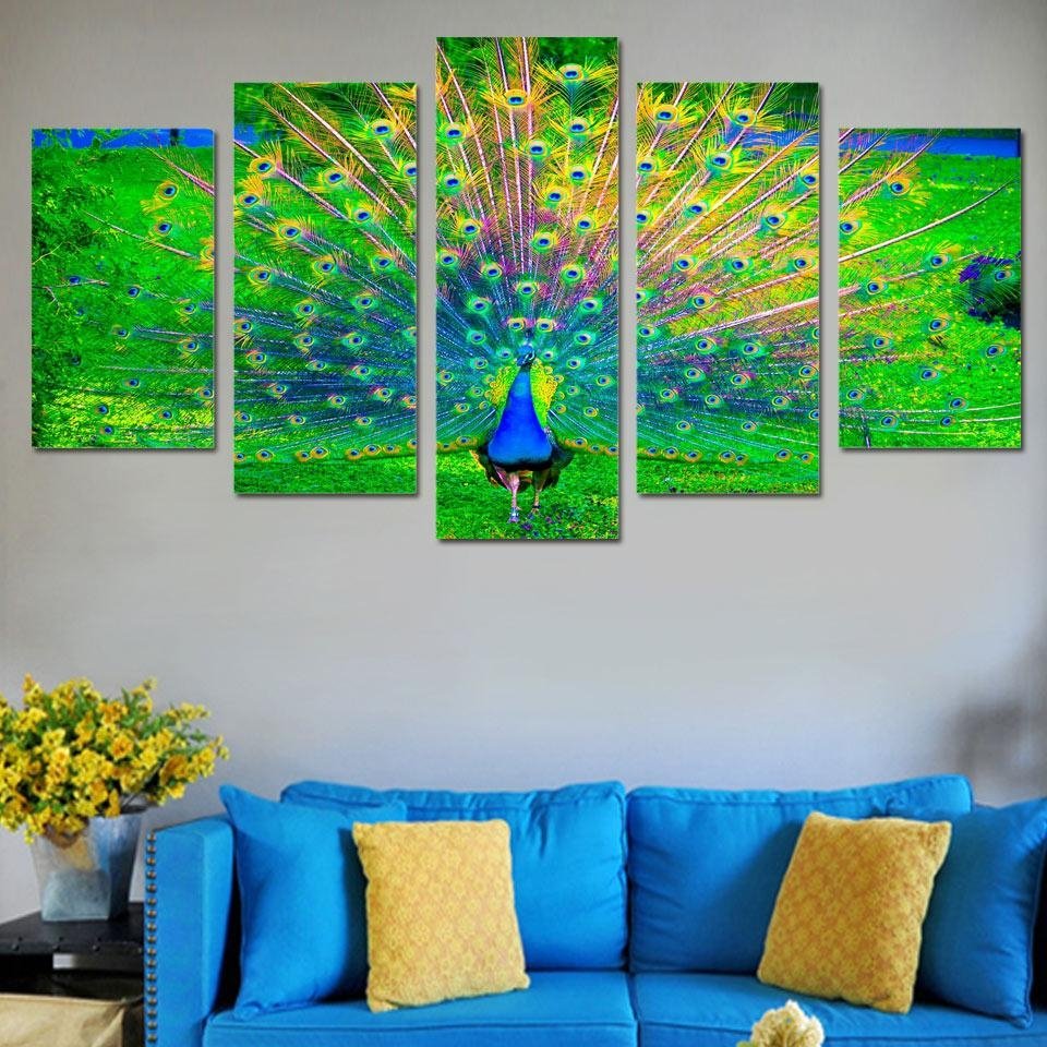 Online Get Cheap Green Canvas Art  Aliexpress | Alibaba Group Throughout Blue And Green Wall Art (Image 12 of 20)