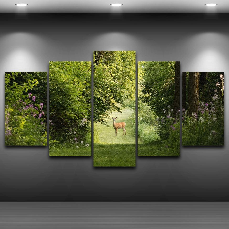 Online Get Cheap Green Nature Canvas Painting Framed  Aliexpress For Green Canvas Wall Art (Image 18 of 20)