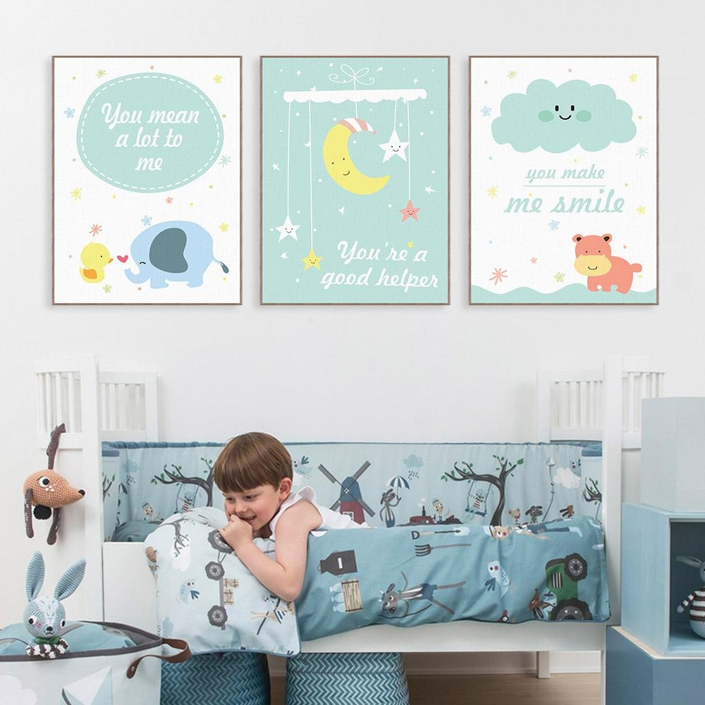 Online Get Cheap Hippo Wall Art  Aliexpress | Alibaba Group Intended For Nursery Framed Wall Art (Image 16 of 20)