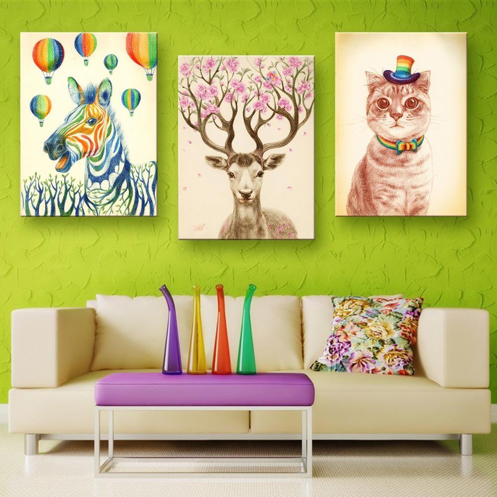 20 best childrens wall art canvas wall art ideas. Black Bedroom Furniture Sets. Home Design Ideas