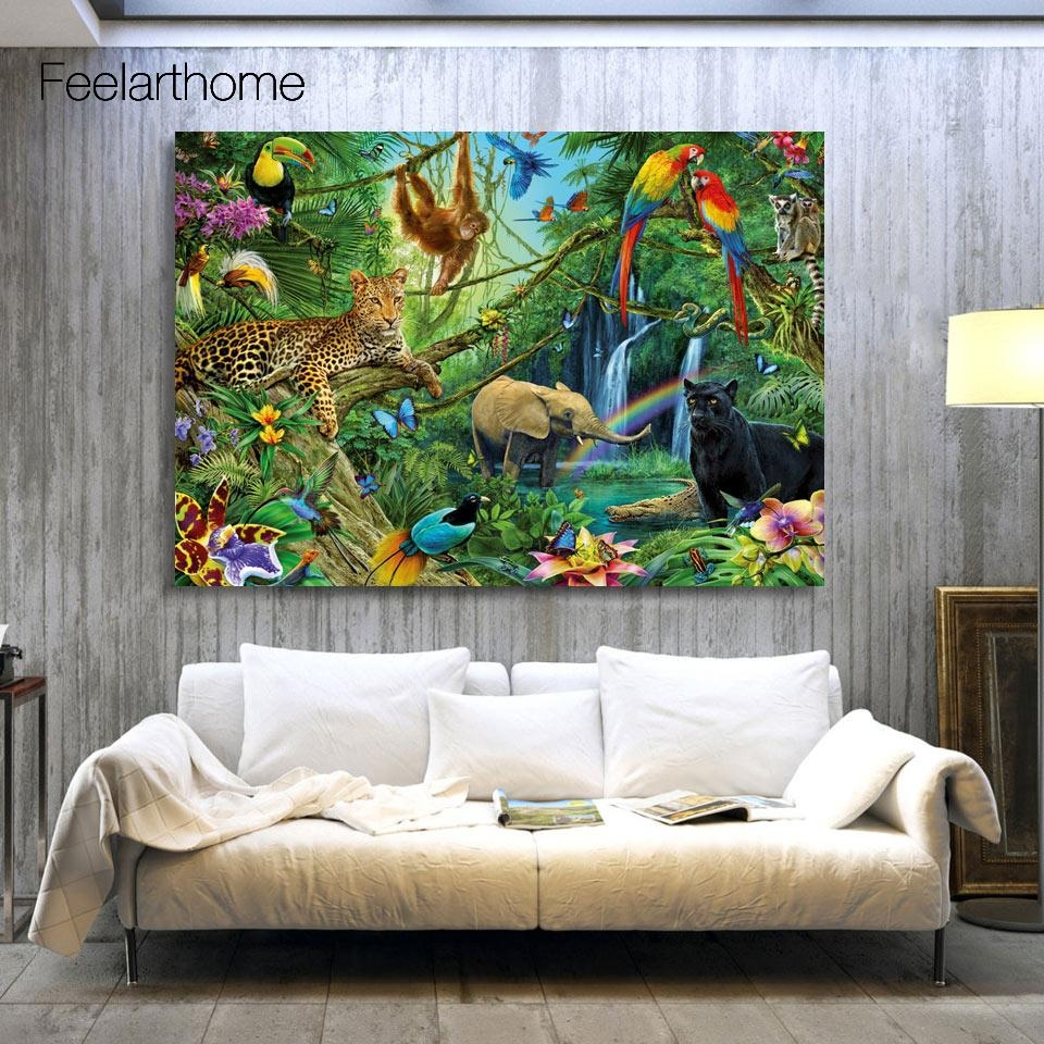 Online Get Cheap Jungle Canvas Art Aliexpress | Alibaba Group With Regard To Jungle Canvas Wall Art (View 11 of 20)
