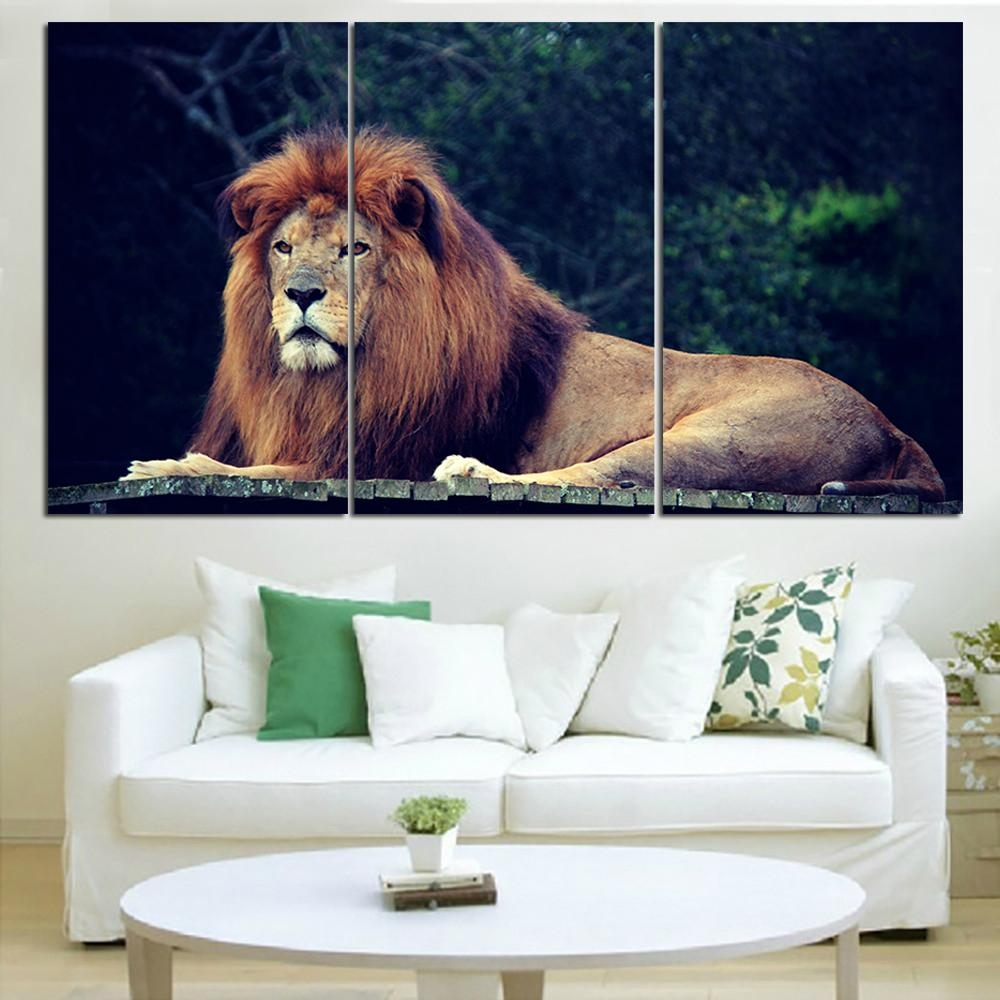 Online Get Cheap Jungle Canvas Wall Art  Aliexpress | Alibaba With Regard To Animal Canvas Wall Art (Image 14 of 20)