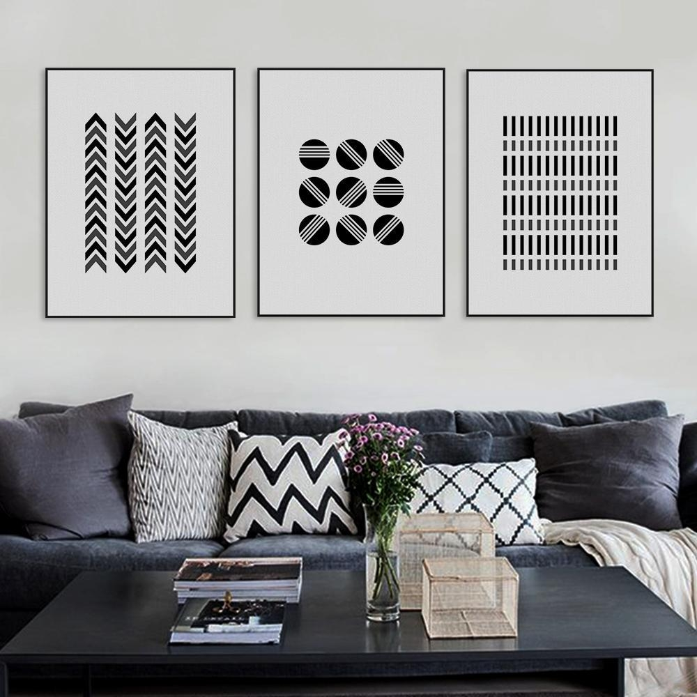 Online Get Cheap Large Black Frame  Aliexpress | Alibaba Group Pertaining To Black And White Framed Wall Art (Image 15 of 20)