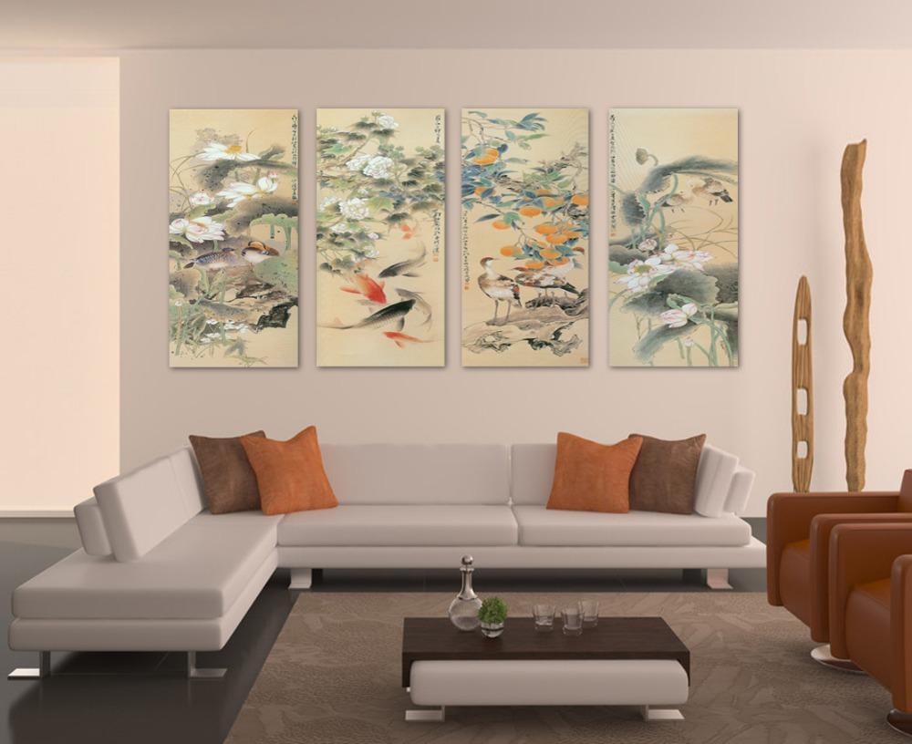 Online Get Cheap Large Koi  Aliexpress | Alibaba Group Throughout Cheap Big Wall Art (Image 13 of 20)