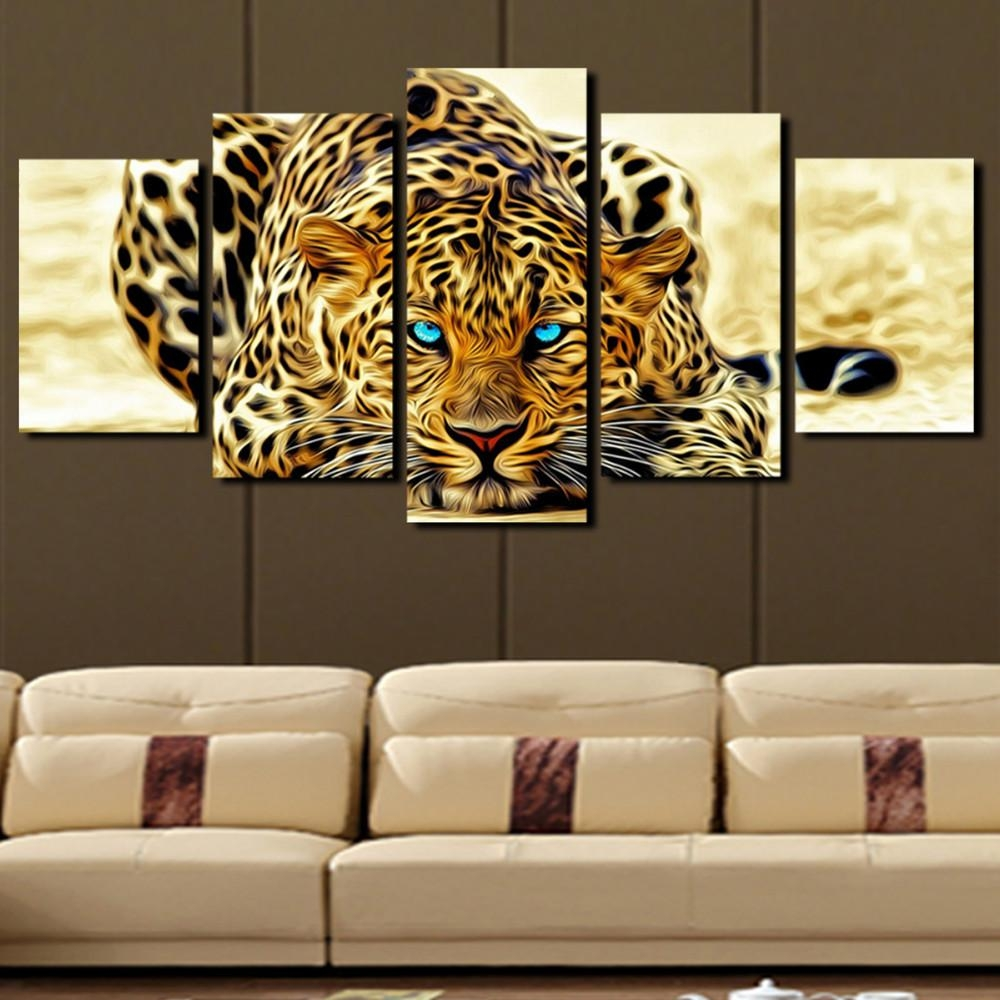 Online Get Cheap Leopard Print Wall Art  Aliexpress | Alibaba Throughout Cheap Wall Art Canvas Sets (Image 10 of 20)
