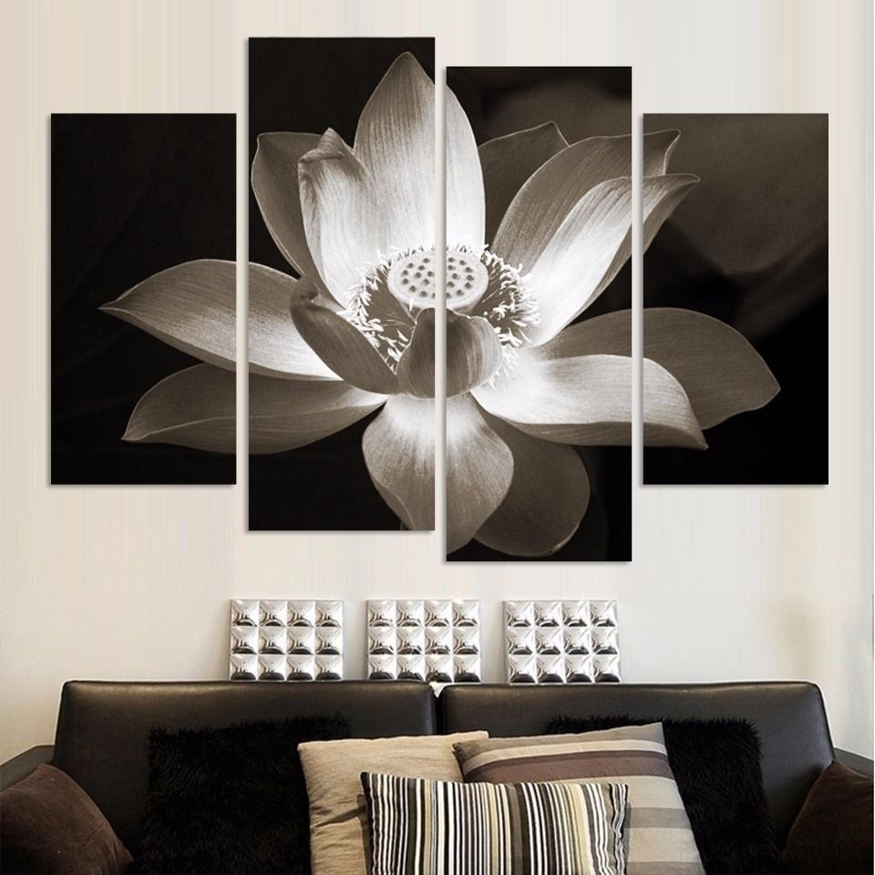 Online Get Cheap Lotus Wall Art Aliexpress | Alibaba Group Intended For Cheap Black And White Wall Art (View 8 of 20)