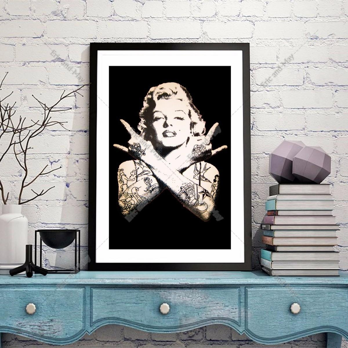 Online Get Cheap Marilyn Monroe Framed Posters Aliexpress Within Marilyn Monroe Framed Wall Art (View 16 of 20)
