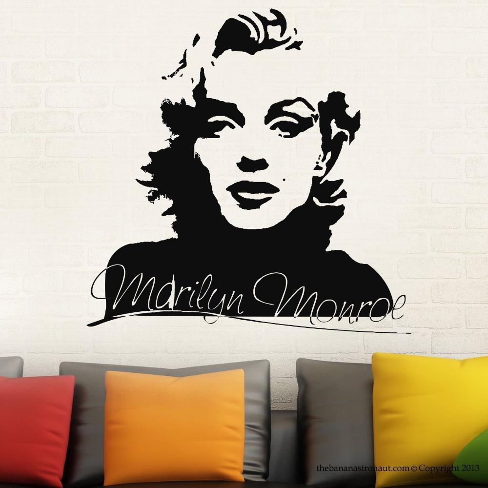 Online Get Cheap Marilyn Monroe Wall Decal Aliexpress For Marilyn Monroe Wall Art (View 18 of 20)