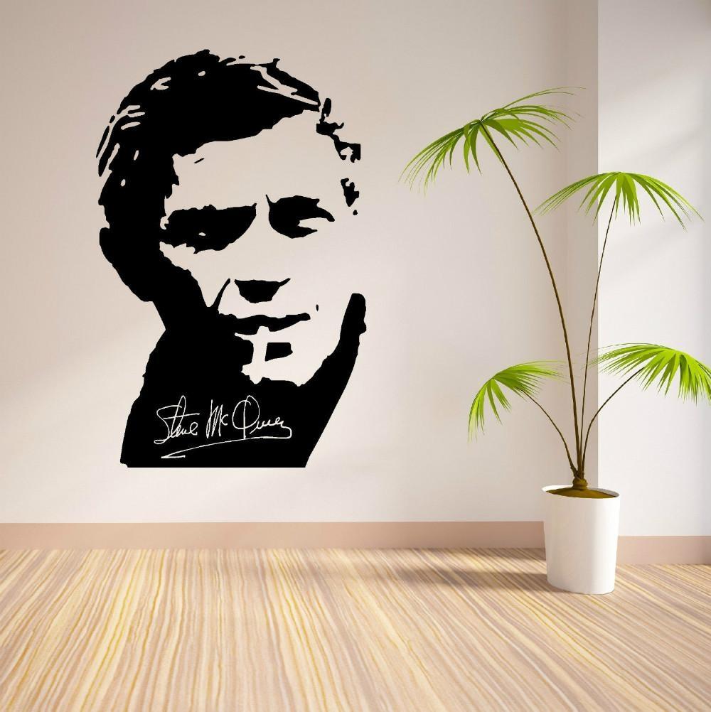 Online Get Cheap Mcqueen Wall Decal  Aliexpress | Alibaba Group Regarding Steve Mcqueen Wall Art (Image 11 of 20)