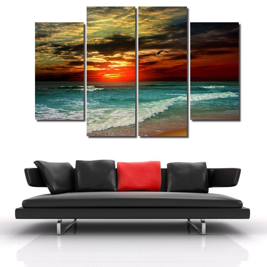 Online Get Cheap Modern Abstract Art For Sale  Aliexpress Within 4 Piece Canvas Art Sets (Image 9 of 20)