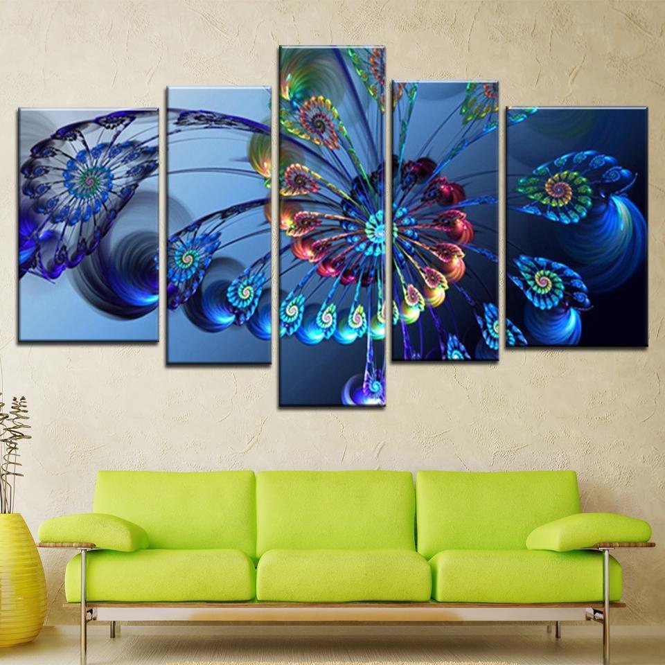 Online Get Cheap Modern Wall Art Peacock Oil Painting  Aliexpress Regarding Cheap Contemporary Wall Art (Image 13 of 20)
