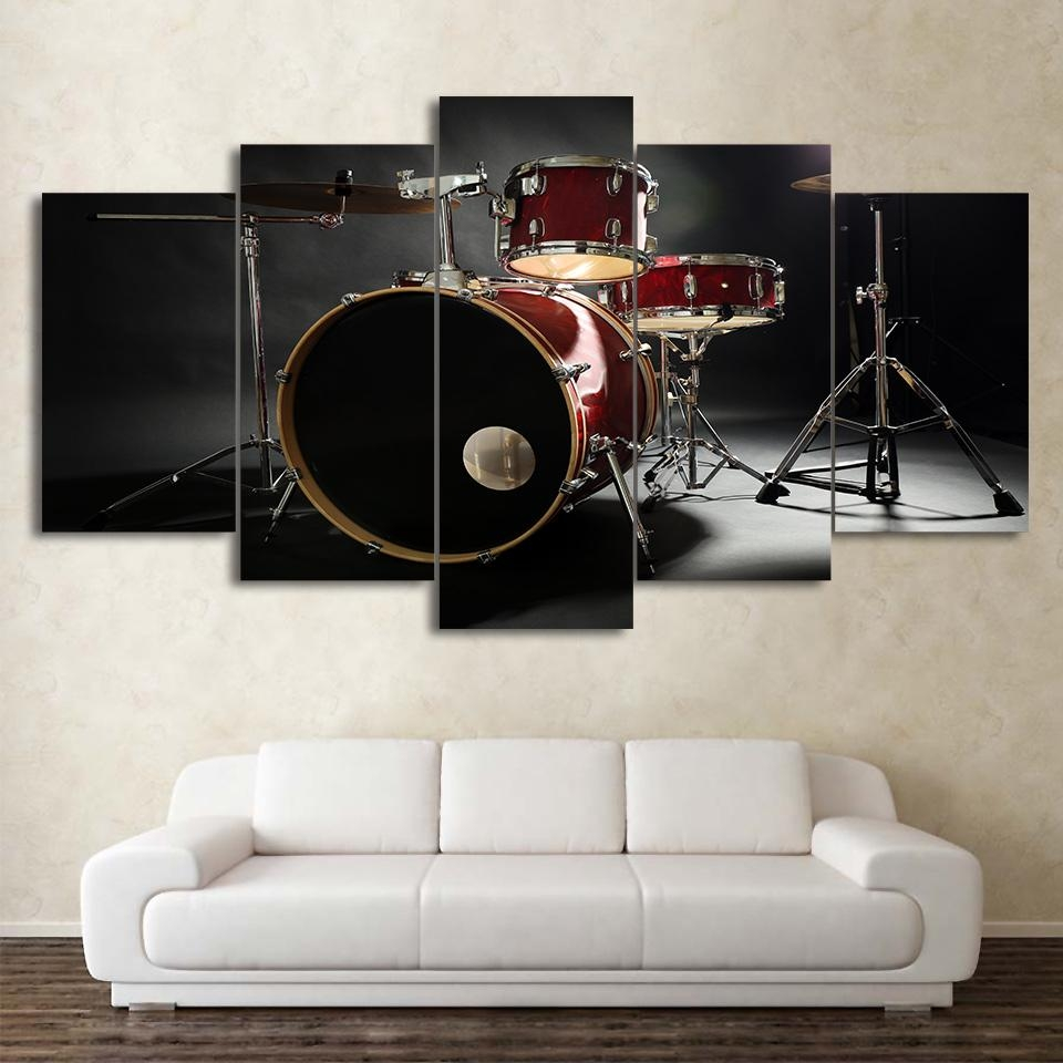 Online Get Cheap Music Wall Art Drums  Aliexpress | Alibaba Group In Musical Instrument Wall Art (Image 8 of 20)