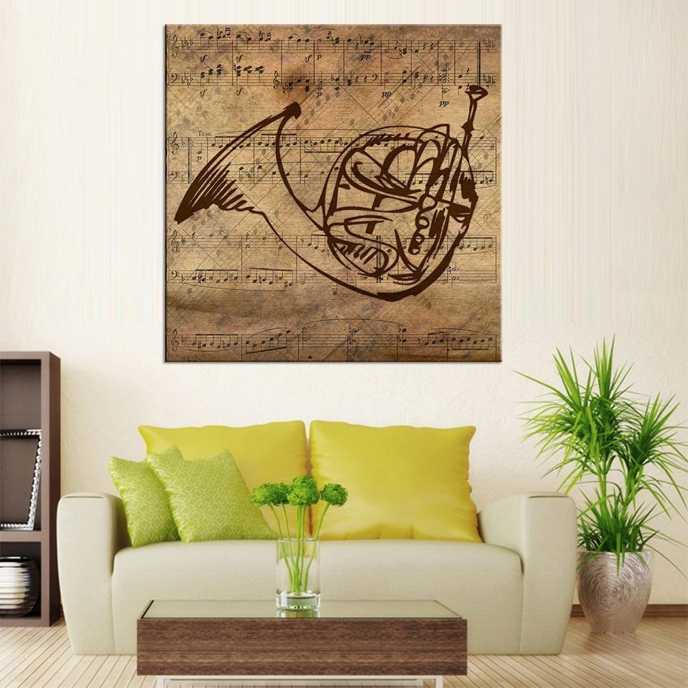 Online Get Cheap Musical Instruments Paintings  Aliexpress Pertaining To Musical Instrument Wall Art (Image 12 of 20)