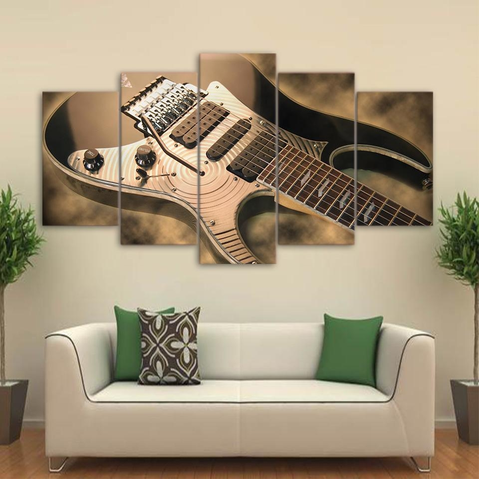Online Get Cheap Musical Instruments Posters Aliexpress With Musical Instrument Wall Art (View 5 of 20)