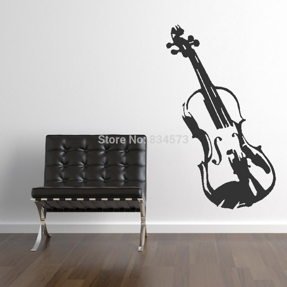 Online Get Cheap Musical Instruments Wall Stickers  Aliexpress Within Musical Instrument Wall Art (Image 14 of 20)