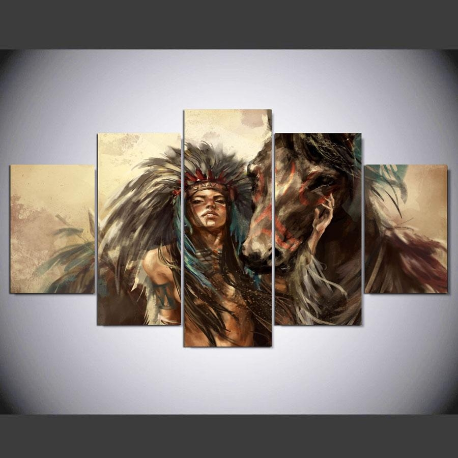 Online Get Cheap Native American Art Aliexpress | Alibaba Group Throughout Native American Wall Art (View 3 of 20)