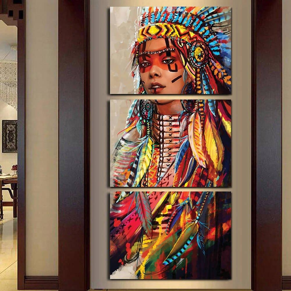 Online Get Cheap Native American Indian Painting  Aliexpress In Native American Wall Art (Image 20 of 20)