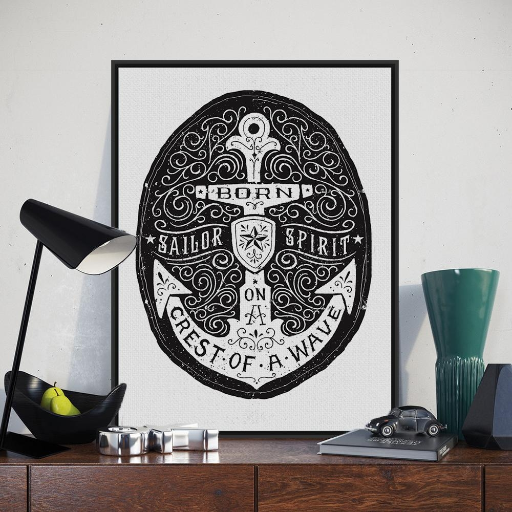 Online Get Cheap Nautical Posters Aliexpress | Alibaba Group Pertaining To Nautical Canvas Wall Art (View 12 of 20)