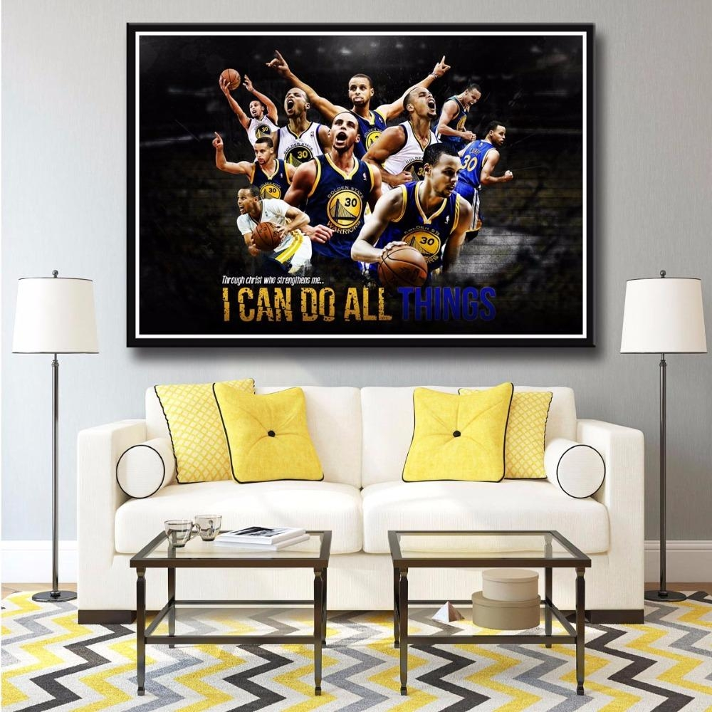 Online Get Cheap Nba Paintings Stephen Curry  Aliexpress Pertaining To Nba Wall Murals (Image 15 of 20)