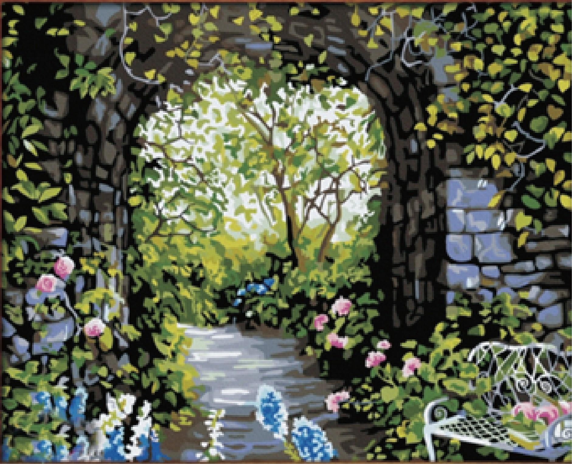 Diy garden wall art images galleries for Garden wall painting designs