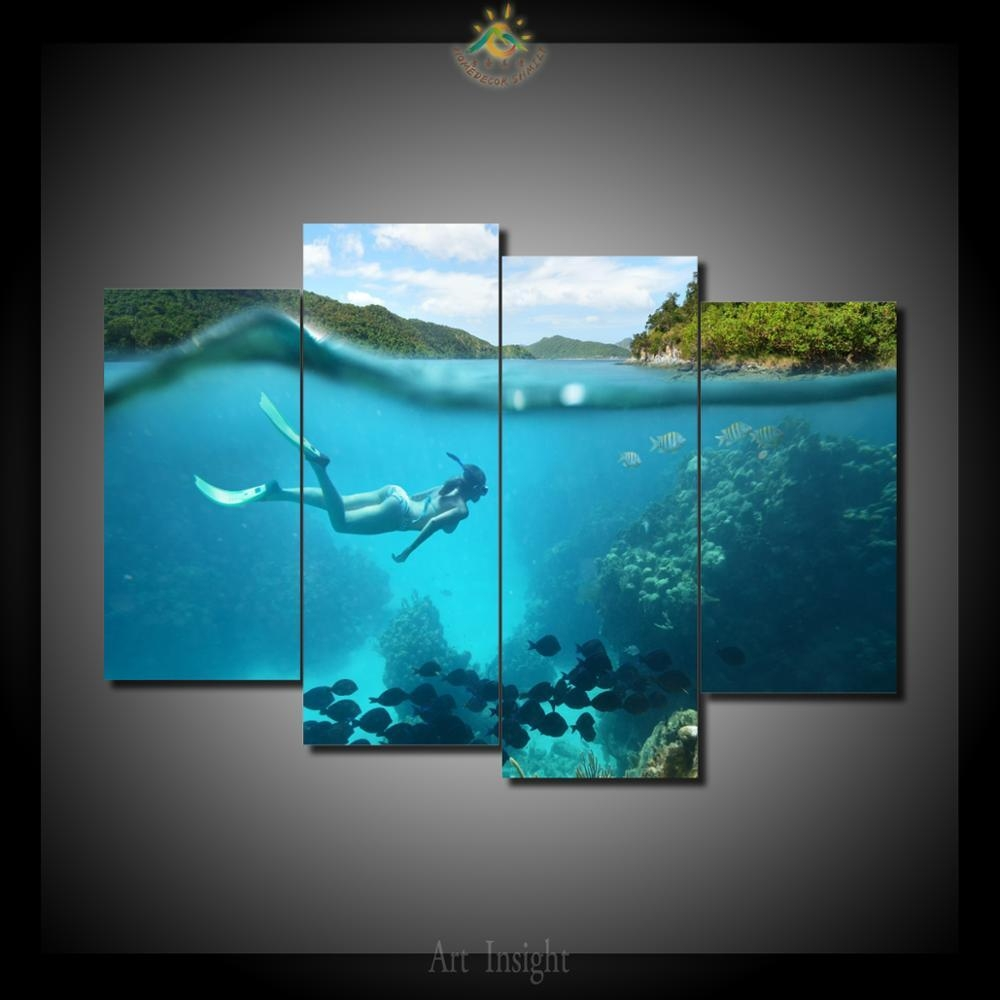 Online Get Cheap Paradise Wall Art  Aliexpress   Alibaba Group Within Electronic Wall Art (Image 13 of 20)