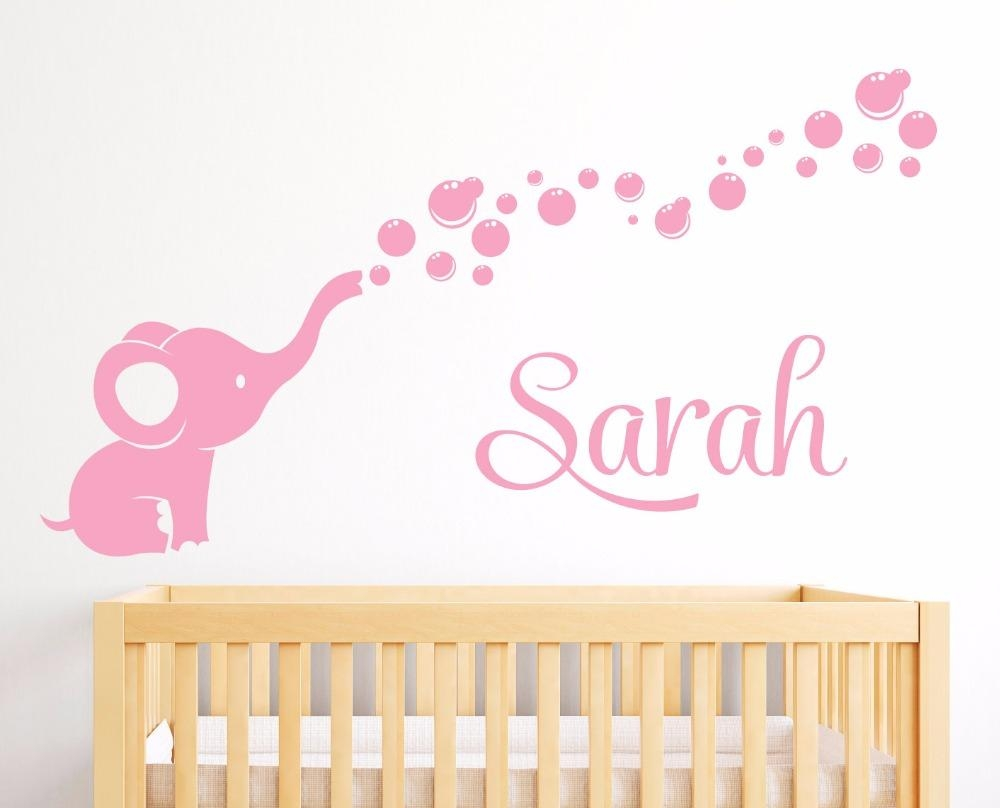 Online Get Cheap Personalized Nursery Wall Art Aliexpress Intended For Personalized Nursery Wall Art (View 14 of 20)