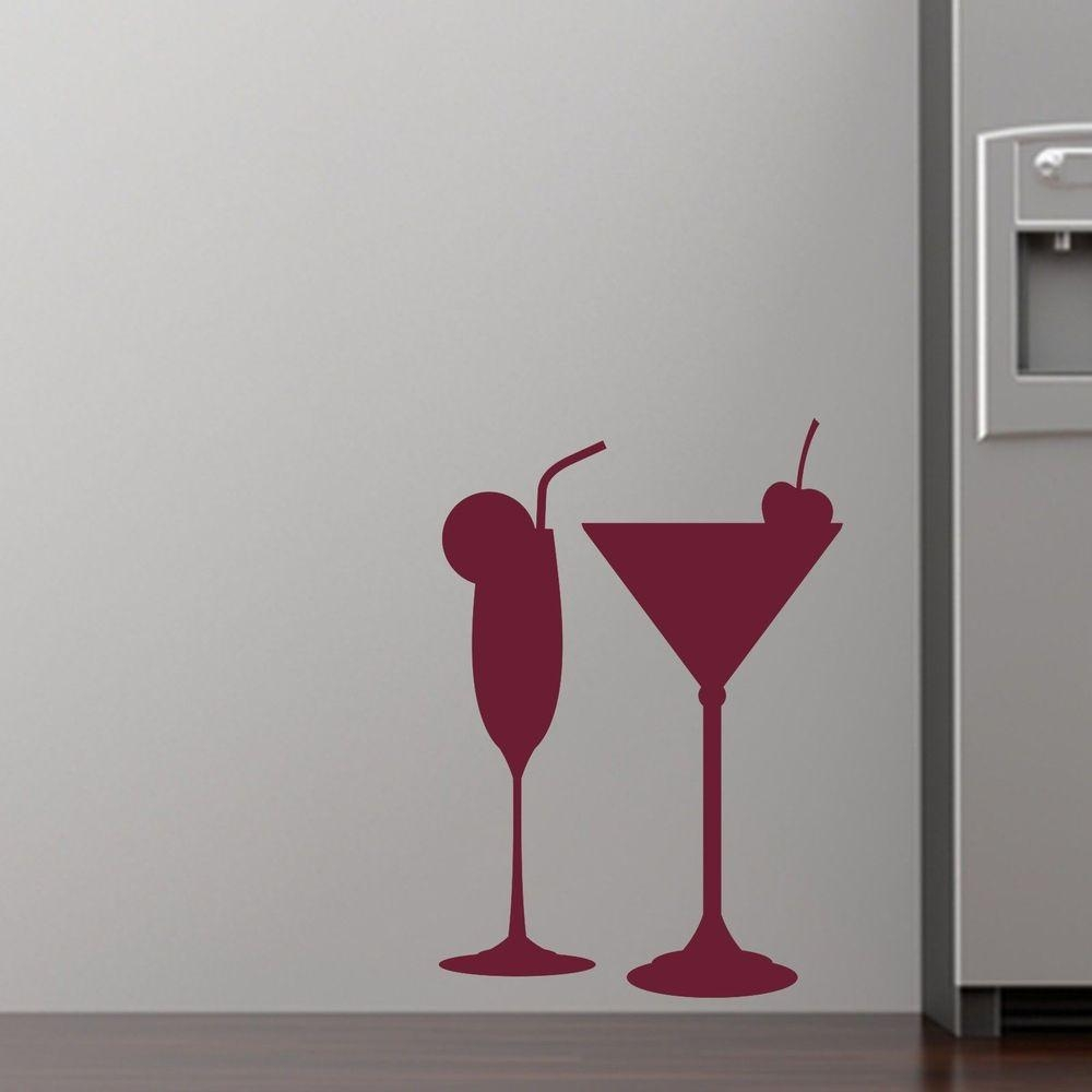 Online Get Cheap Plastic Cocktail Glass Aliexpress | Alibaba With Regard To Martini Glass Wall Art (View 7 of 20)