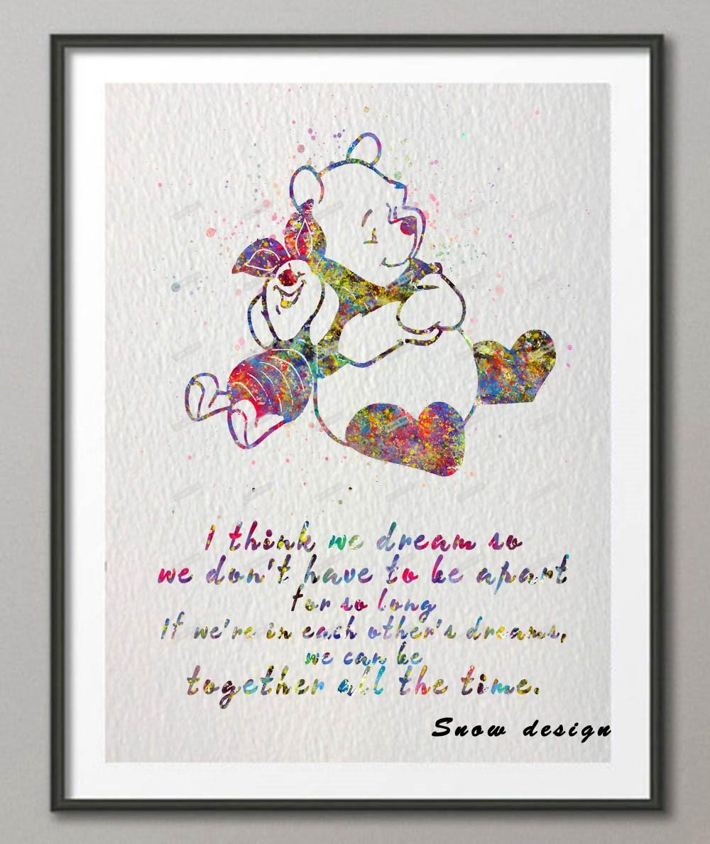 Online Get Cheap Pooh Wall Art Aliexpress | Alibaba Group Inside Winnie The Pooh Wall Art (View 16 of 20)