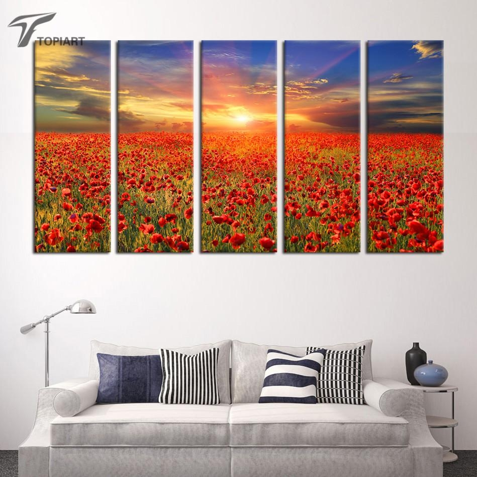 Online Get Cheap Red Poppies Canvas  Aliexpress   Alibaba Group For Red Poppy Canvas Wall Art (Image 11 of 20)