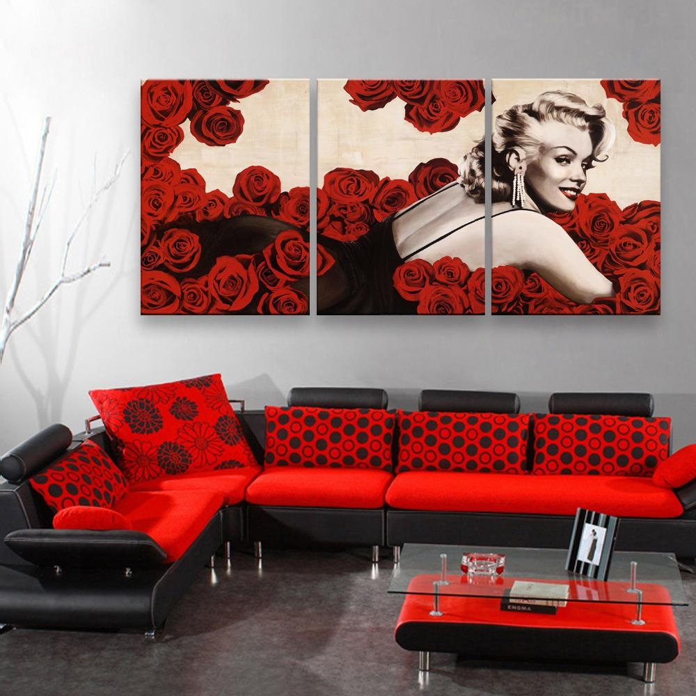 Online Get Cheap Red Rose Poster  Aliexpress | Alibaba Group Throughout Red Rose Wall Art (Image 13 of 20)
