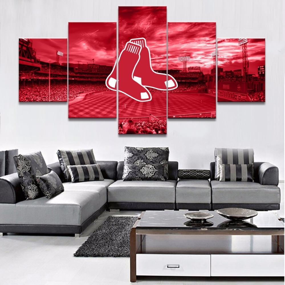 Online Get Cheap Red Sox Canvas  Aliexpress | Alibaba Group Pertaining To Boston Red Sox Wall Art (Image 17 of 20)