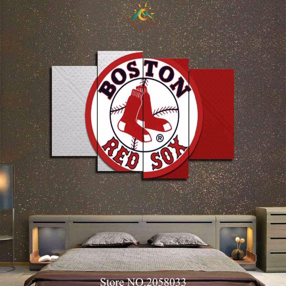 Online Get Cheap Red Sox Canvas  Aliexpress | Alibaba Group Pertaining To Boston Red Sox Wall Art (Image 16 of 20)