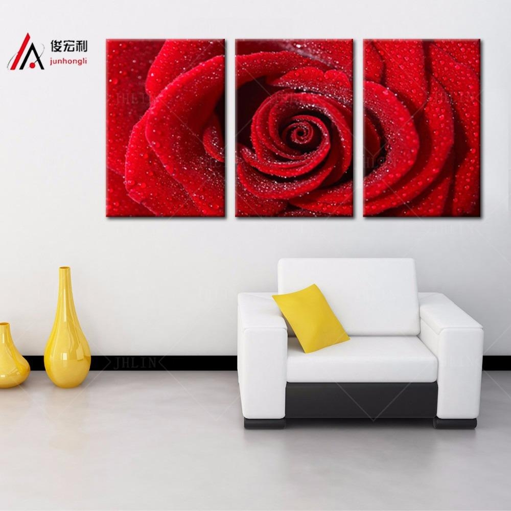 Online Get Cheap Rose Pictures Art Aliexpress | Alibaba Group Regarding Red Rose Wall Art (View 14 of 20)