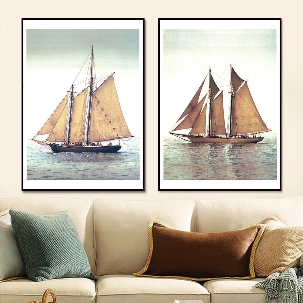 Online Get Cheap Sailing Wall Art  Aliexpress   Alibaba Group With Boat Wall Art (Image 13 of 20)