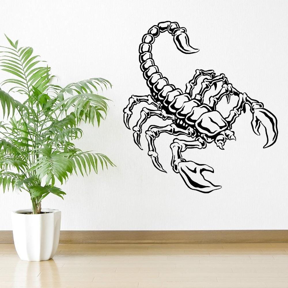 Online Get Cheap Scorpion Wall Art  Aliexpress | Alibaba Group In Insect Wall Art (Image 12 of 20)