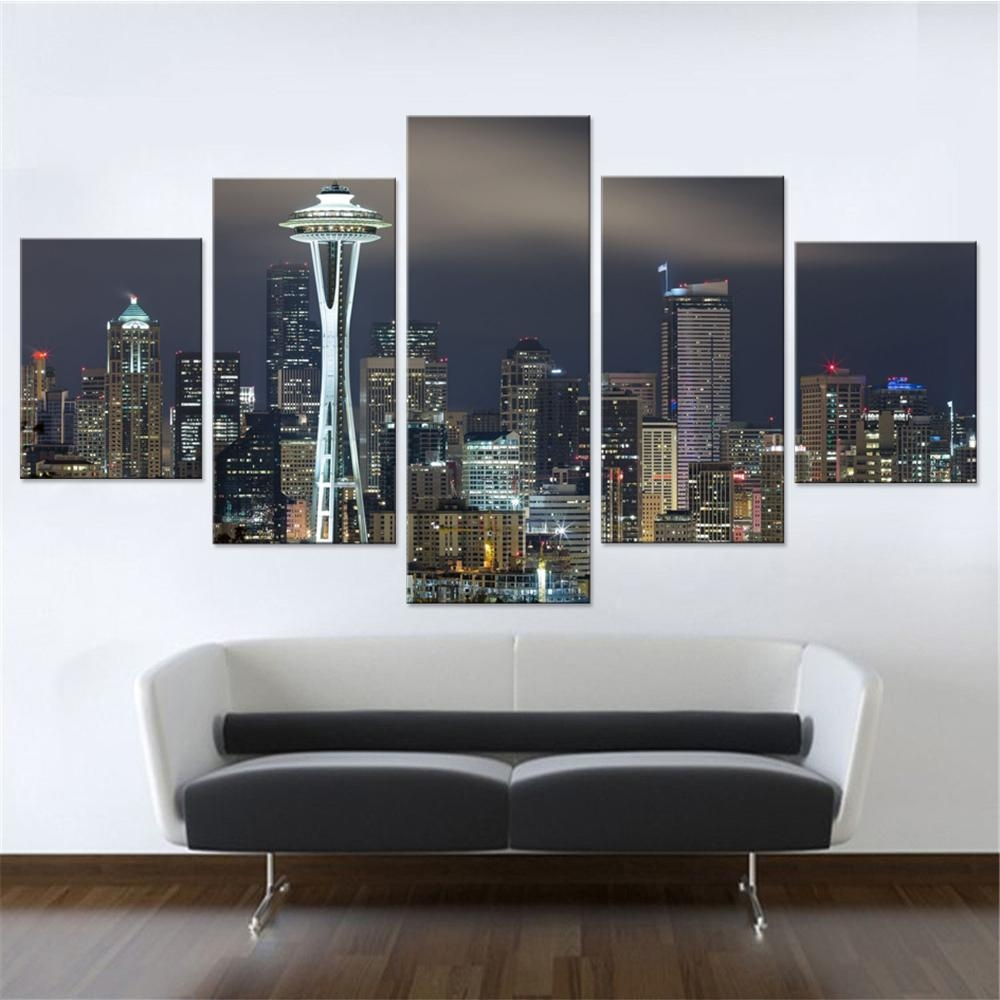 Online Get Cheap Seattle Wall Art  Aliexpress | Alibaba Group With Regard To Modular Wall Art (Image 15 of 20)