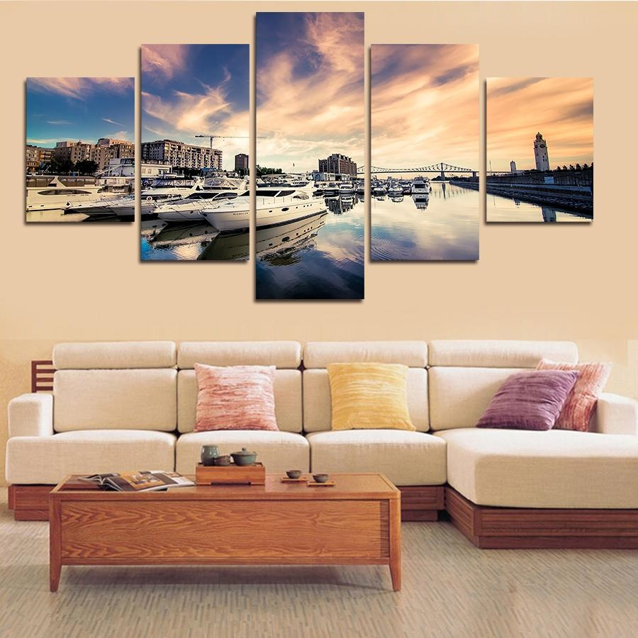 Online Get Cheap Ship Wall Art  Aliexpress | Alibaba Group For Cheap Big Wall Art (Image 15 of 20)