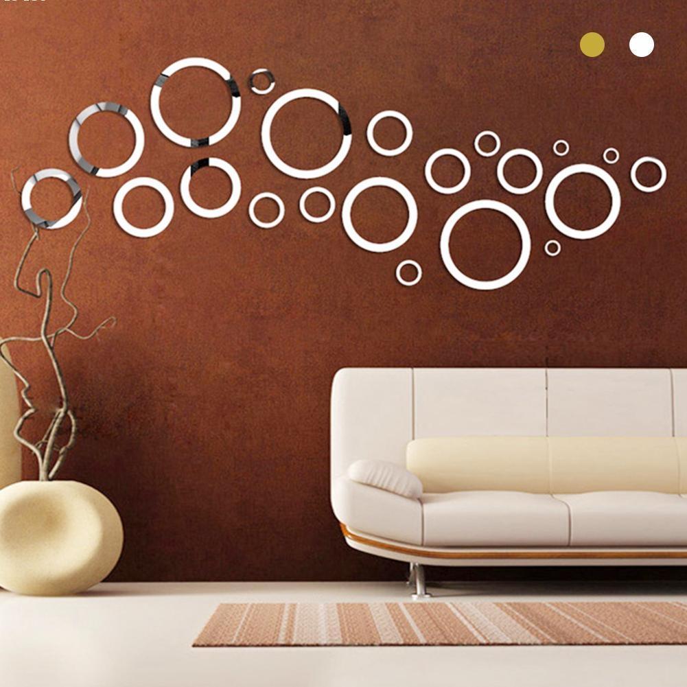 Online Get Cheap Silver Circle Mirror Aliexpress | Alibaba Group Throughout Mirror Circles Wall Art (View 9 of 20)